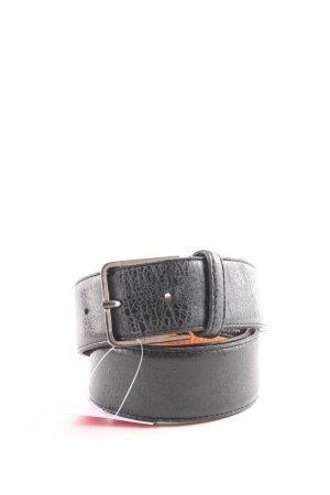 Hüftgold Cintura di pelle nero-arancione chiaro stampa integrale