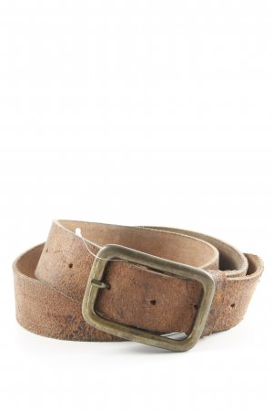 Hüftgold Leather Belt brown-light brown simple style