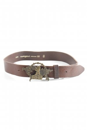 Hüftgold Leather Belt dark brown casual look