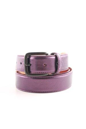 Hüftgold Cintura di pelle lilla-arancione chiaro elegante