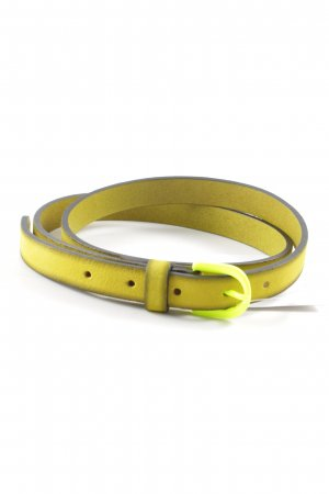 Hüftgold Leather Belt lime yellow-neon yellow street-fashion look