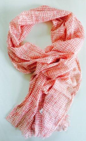 Hüftgold Schal Tuch Rot Weiß