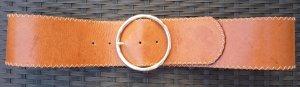 Hüftgürtel aus Hirschleder, Cognac-Braun, 85 cm
