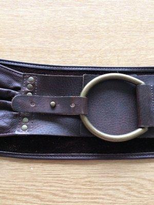 Belt dark brown-bronze-colored