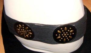 Zabaione Cinturón de cadera negro-color bronce