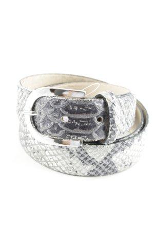 Cintura fianchi grigio-argento motivo animale impronta animale