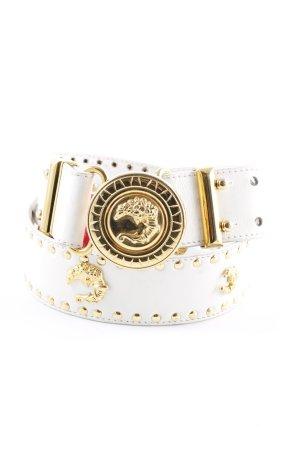 Cinturón de cadera blanco-color oro estilo extravagante