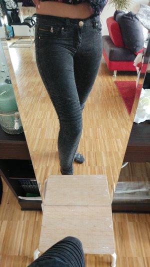 Pantalone a vita bassa grigio-antracite