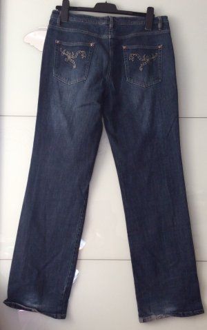 Low Rise jeans neon blauw