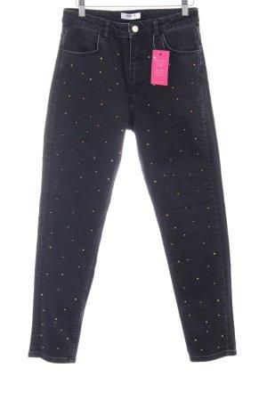 Pantalon taille basse noir-gris foncé style mode des rues