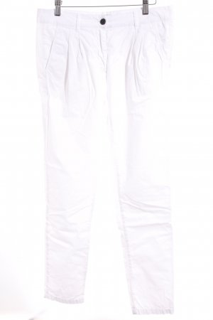 Low-Rise Trousers white athletic style