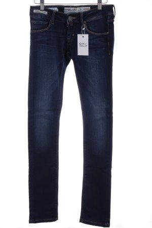 Jeans taille basse bleu style décontracté