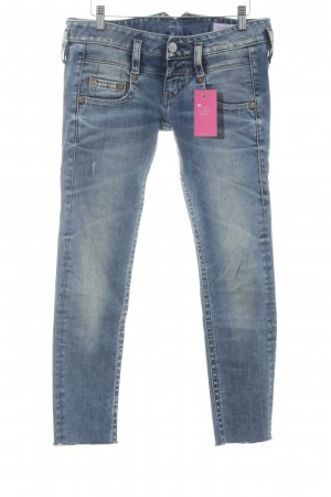 Low Rise Jeans slate-gray-blue athletic style