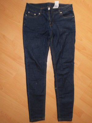 Jeans vita bassa blu scuro
