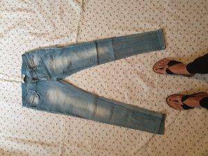 Low Rise jeans azuur Gemengd weefsel