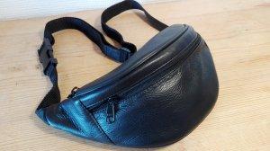 Hüfttasche aus Leder, schwarz
