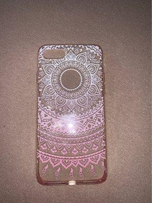Carcasa para teléfono móvil color rosa dorado-blanco