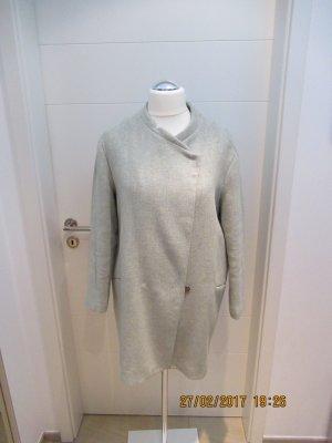 Zara Manteau court bleu pâle tissu mixte