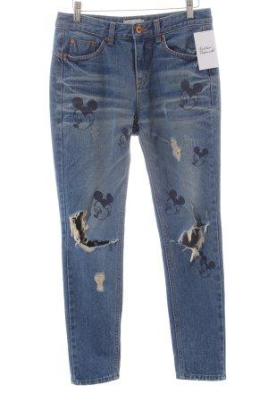 Hüming High Waist Jeans blau Comic-Look