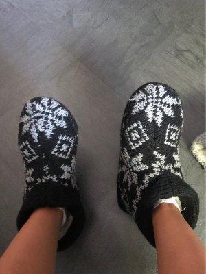 Slipper Socks black-light grey