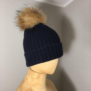 Hugenberg Chapeau en tricot bleu-bleu foncé cachemire
