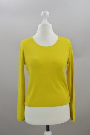 Hugenberg Pullover Wolle gelb Größe S