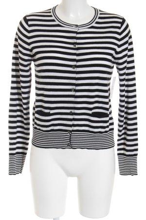 Hugenberg Strick Cardigan schwarz-weiß Streifenmuster Casual-Look