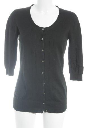 Hugenberg Strickjacke schwarz schlichter Stil