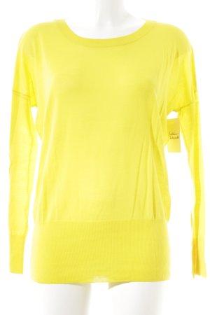 Hugenberg Wollpullover gelb klassischer Stil