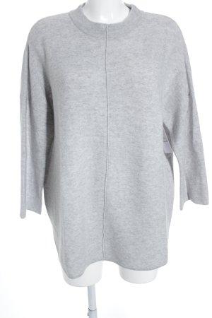 Hugenberg Maglione di lana grigio chiaro puntinato stile semplice