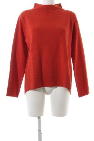 Hugenberg Maglione di lana rosso stile classico