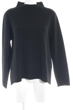 Hugenberg Maglione di lana nero stile minimalista