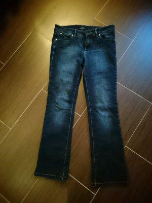 HUGO Hugo Boss Jeans met rechte pijpen blauw Katoen