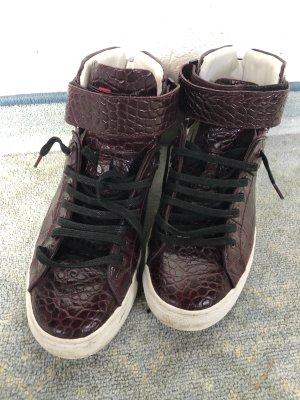 Hugo Boss High Top Sneaker brown red-white