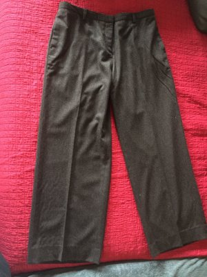 Hugo Boss Woolen Trousers dark brown-black brown wool