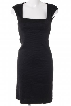 Hugo Boss A-Linien Kleid schwarz Punktemuster Business-Look
