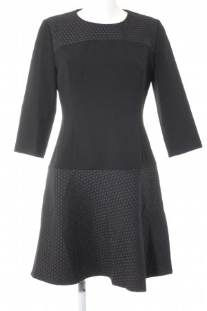 Hugo Boss Abendkleid schwarz Punktemuster Business-Look