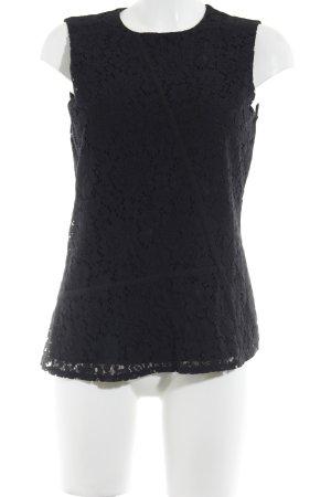 Hugo Boss ärmellose Bluse schwarz florales Muster Elegant