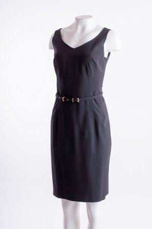HUGO BOSS - Ärmelloses Kleid mit Gürtel Schwarz