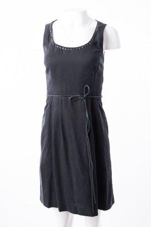 HUGO BOSS - Ärmelloses Kleid mit Nietenbesatz Schwarz
