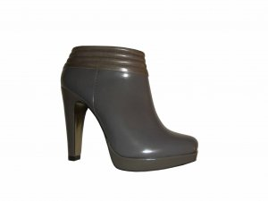Hugo Boss Ancle Boots Plateau Leder Echtleder Stiefeletten grau Gr. 37 neu