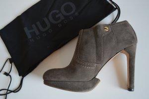 Hugo Boss Stivaletto marrone-grigio Pelle