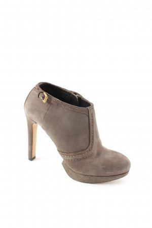Hugo Boss Ankle Boots graubraun-goldfarben Party-Look