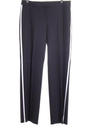 Hugo Boss Anzughose dunkelblau-weiß Business-Look