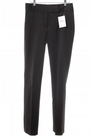 Hugo Boss Suit Trouser dark brown-light grey pinstripe business style