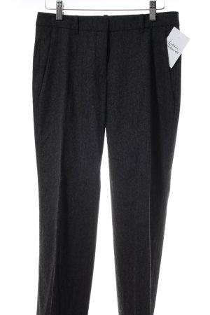 Hugo Boss Anzughose dunkelgrau-wollweiß meliert klassischer Stil