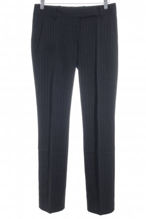 Hugo Boss Suit Trouser black-silver-colored pinstripe business style