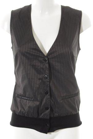 Hugo Boss Gilet de costume noir-argenté rayure fine élégant