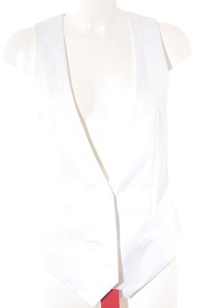 Hugo Boss Chaleco de vestir blanco estilo «business»