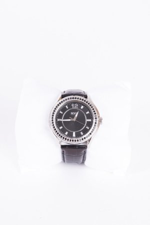 HUGO BOSS - Armbanduhr mit Kristallbesatz Schwarz
